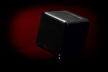 dim light: Sound speaker in dim light Stock Photo