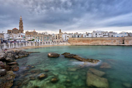 Panoramic view of Monopoli. Puglia, Southern Italy. Sea in summer. Italian resort. Stock Photo