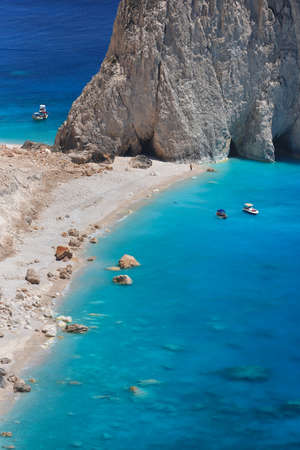 Beautiful lanscape of Ionian Sea from Keri, Zakinthos island, Greece. Vacation concept background Stok Fotoğraf
