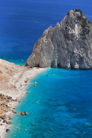 Beautiful lanscape of Ionian Sea from Keri, Zakinthos island, Greece. Vacation concept background Фото со стока - 130818640