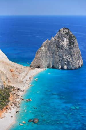 Beautiful lanscape of Ionian Sea from Keri, Zakinthos island, Greece. Vacation concept background Banco de Imagens