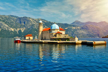 Our Lady of the Rocks Church Island in perast kotor bay montenegro. Gospa od Skrpjela
