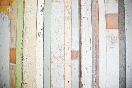 vintage timber: Recycled wood wall Stock Photo