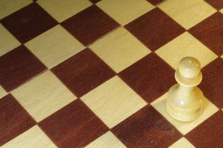 wood turning: chess, white pawn