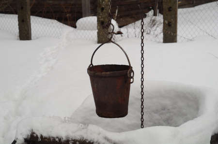 sump: The well water under snow.