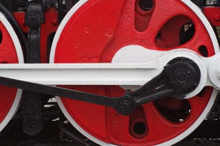 steam locomotives: Close up of wheels of steam locomotives
