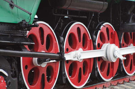 steam locomotives: steam locomotives, close up of wheels