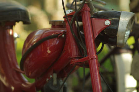 moped: Close up of old moped