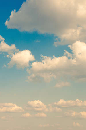 heaven background: beautiful retro colors cloud and sky background Stock Photo