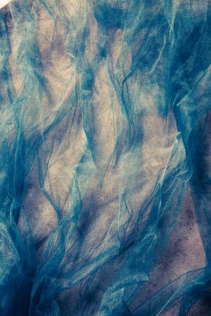 tulle: blue tulle fantasy background Stock Photo