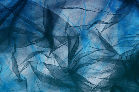fantasy background: black and blue  tulle fantasy background