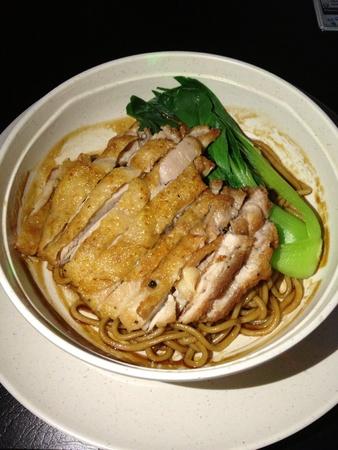 chicken chop: Chicken chop noodle