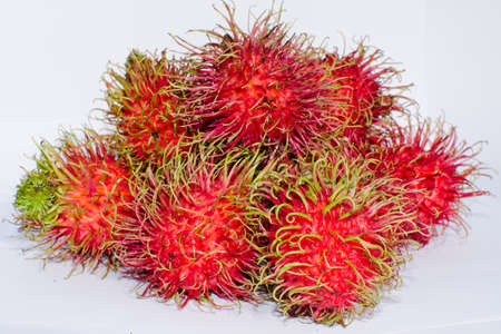 east asia: rambutan is fruit in soth east asia Stock Photo