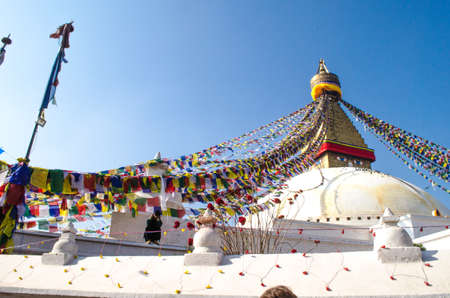primordial: the famous buuha eye gazing out sleepily from each side of the tower are those of the all seeing primordial buddha.perched a top a hill on the western edge of the kathmandu valley. Editorial