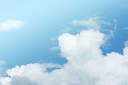 blue sky have cloud in winter season ,thai land .