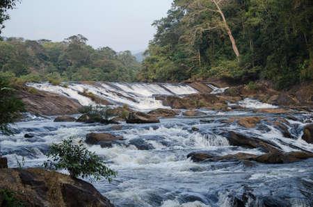 this big waterfall in india. Standard-Bild