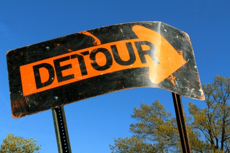 bent: Bent Detour Sign