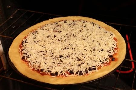 Black Bean Pizza - uncooked