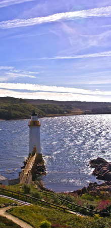 kyle: This lighthouse is in the Kyle of Lochalsh underneath the Skye bridge (pronounced cool of loch aww-lash) in the North of Scotland