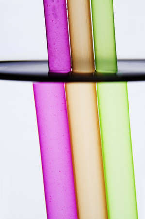 Drinking straws refracted Stock Photo