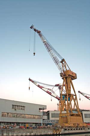 Quay crane Banque d'images