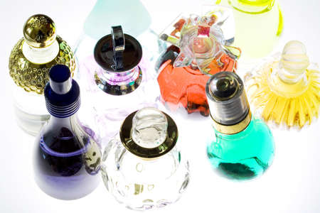 Colored perfume