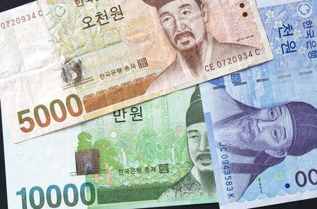 La monnaie cor�enne Banque d'images