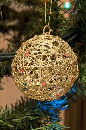 new year s eve: Christmas ball and decoration