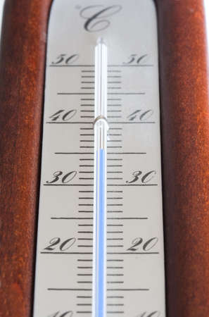 forcast: Wood termometer Stock Photo