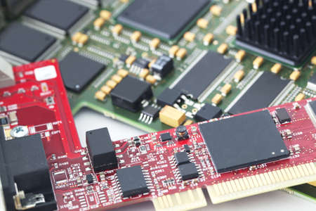 electronic components: Electronic circuit board Stock Photo