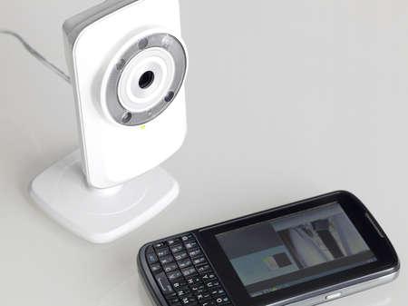ip camera: Network webcam Stock Photo