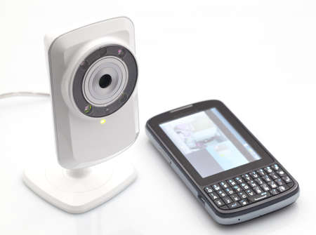video surveillance: Network webcam Stock Photo