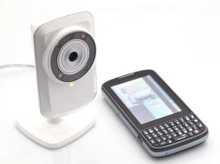 R�seau webcam Banque d'images