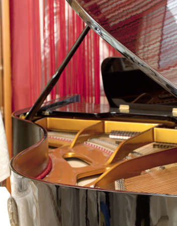 classical mechanics: Piano detail Stock Photo