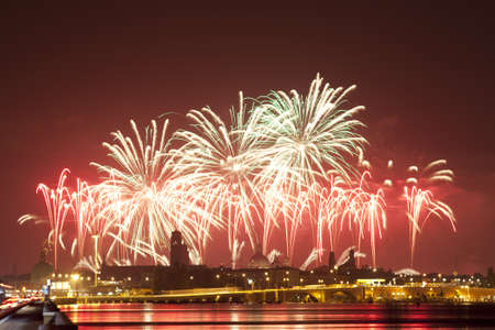 Firework celebration Redentore  Venice, Italy   Banque d'images