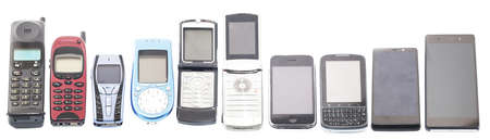 cellular telephone: Old and new Mobile phones, smartphone