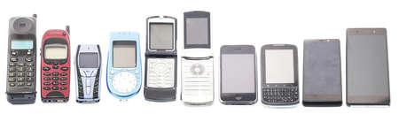 Viejos y nuevos teléfonos móviles, teléfonos inteligentes Foto de archivo - 38973943