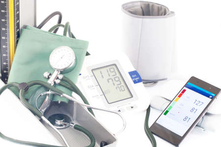 diastolic: Blood pressure Stock Photo