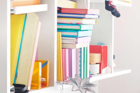 handbook: Shelves with books