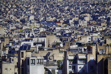 seemingly: low-rise and crowded houses builtin a seemingly unorganized manner