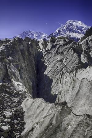 steep sloping sharp tooth-edged glaciers