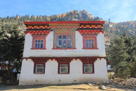 tibetan house: Tibetan-styled village house