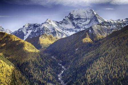 autumn landscape of a mountainous region