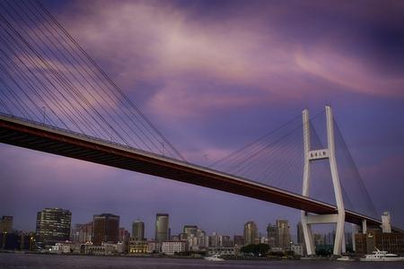Nanpu bridge at sunset