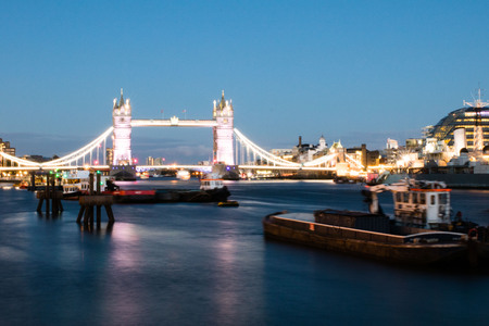 tower bridge in London in the evening Stock Photo