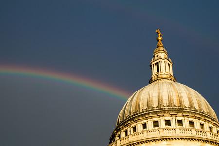 double rainbow over St Pauls Imagens