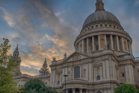 sunset at St Pauls cathedral