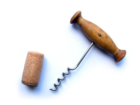 cork screw: cork-screw on white background