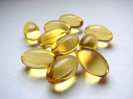transparent pills of viamin E photo