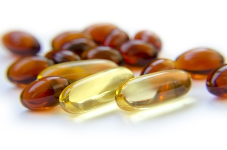 Pills of Omega-3 and lecithin